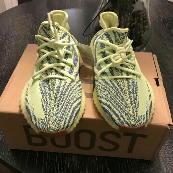 huge discount 0b88b 4d55b Yeezys neon green glow up